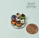 1:12 Dollhouse Miniature 6 Halloween Cupcakes on Plate/ Miniature Cakes HMN 788