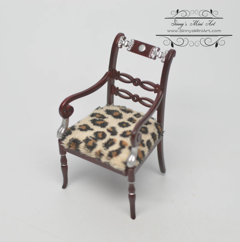 1:12 Dollhouse Miniature Art Nouveau Armchair Furniture AZ P3466