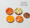 1:12 Dollhouse Miniature Fruits Pies on Tray 4 PC/Set HMN 1579