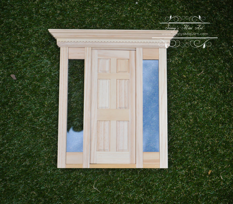 1:6 Dollhouse Playscale Jamestown Door with Window / Miniature Door AZ HW96010