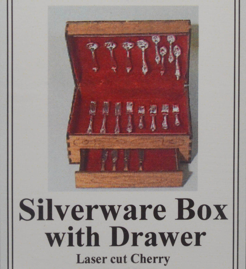 1:12 Dollhouse Miniature Silverware Box with Drawer Ki DI DF110
