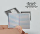 1:12 Dollhouse Miniature Composition Book/ Miniature School 56100