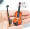 1:12 Dollhouse Miniature Violin with Case/ Miniature Instrument C2