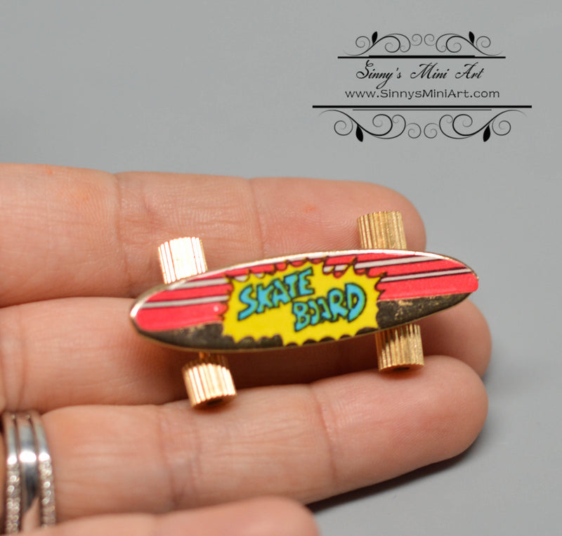 1:12 Miniature Skateboard, Brass / Miniature Toy AZ B0169