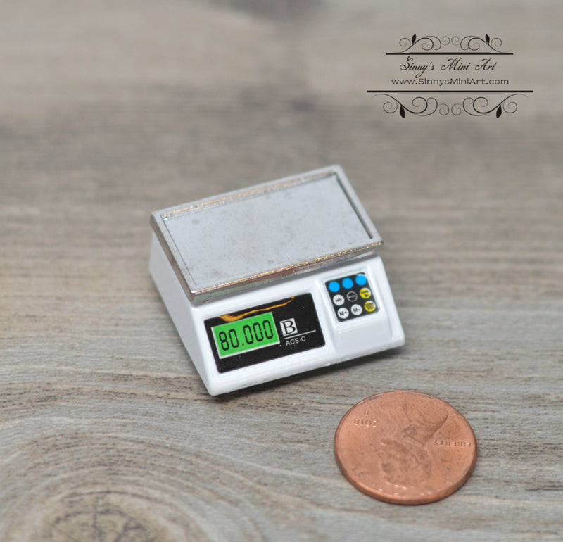 1: 12 Dollhouse Miniature Electronic Scale D159