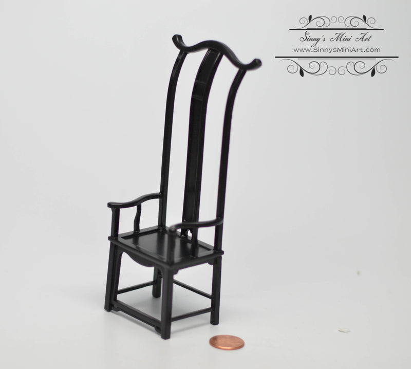 1:12 Dollhouse Miniature Chinese Chair AZ JJ05046BK