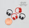 1:12 Dollhouse Miniature Headphone  D180
