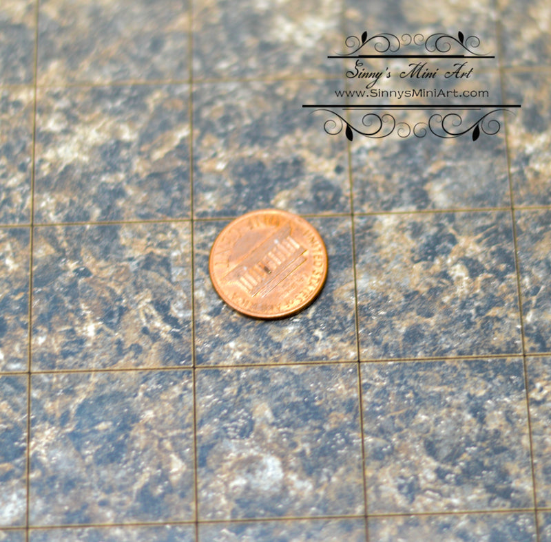 1:12 Dollhouse Miniature Granite Flooring, Labrador Granite (Formica) / Dollhouse Miniature Floor AM FORM6