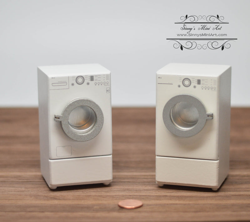 1:12 Dollhouse Miniature Washer and Dryer Set/ Laundry AZ CL10912 CL10913