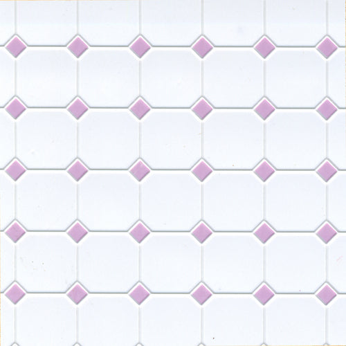1:12 Dollhouse Miniature Lilac Diamond Tile AZ FF60652