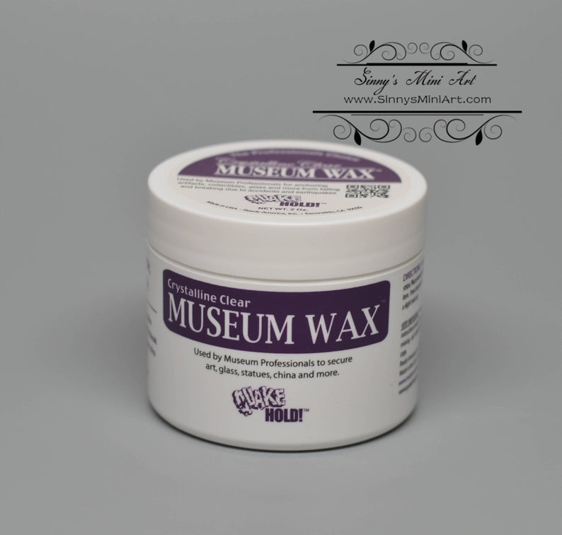 Crystalline Clear Museum Wax 2 oz for Dollhouse Miniatures AZ C3661