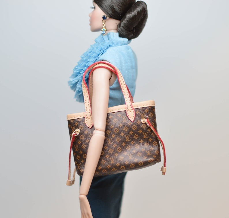 1:6 Miniature Doll Handbag/ Doll Purse Miniature luxury Bag MJ C42-1