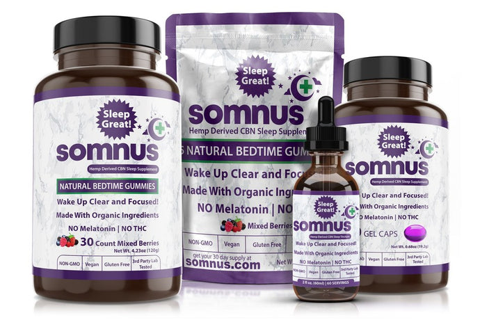 Product Launch: Finally a natural sleep-aid that is not CBD or melatonin. Introducing SOMNUS with CBN