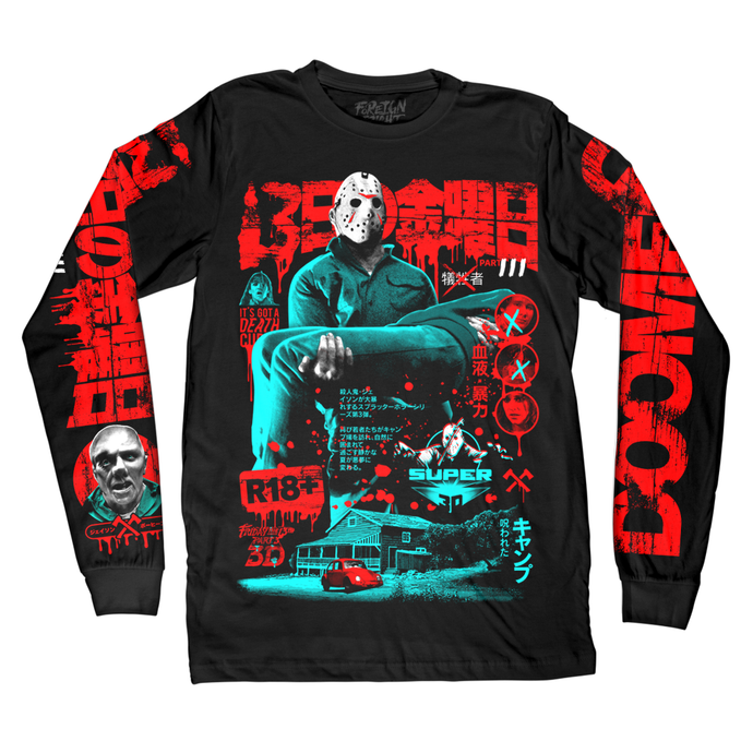 Friday The 13th Long Sleeve Shirt Jason Voorhees