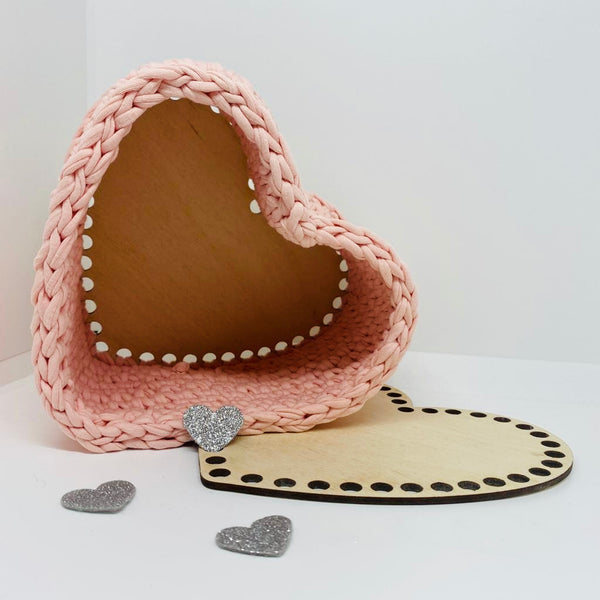 Heart Basket Crochet Kit