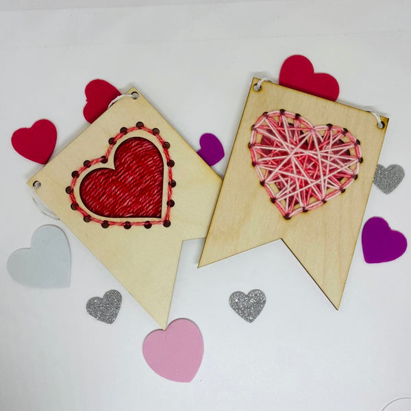 Wood and Wool Hearts Kit