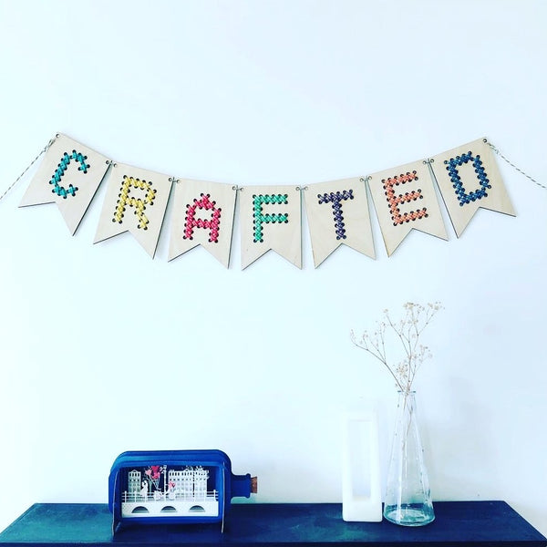 Wood and Wool Personalised Bunting Kit