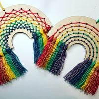 Wood and Wool Rainbow Hanging Kit