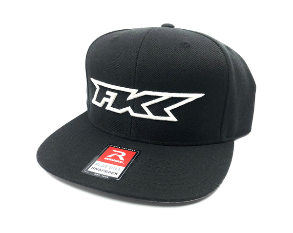 Black and White Flat Bill Hat
