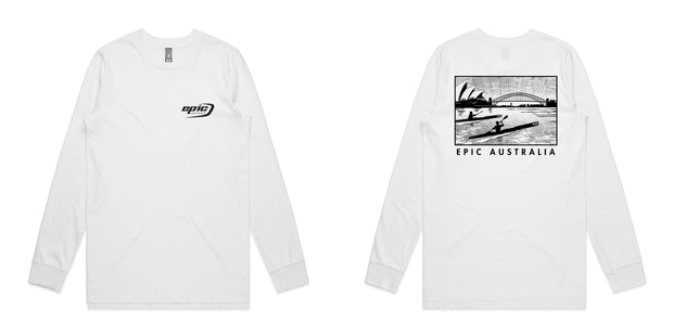 Long Sleeve Organic Cotton Epic Kayaks Design Tee - Epic Kayaks Australia