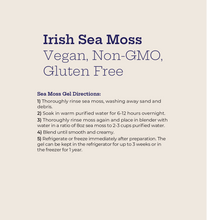 Load image into Gallery viewer, My Musso - Instructions to Turn Raw Organic Irish Sea Moss Into Gel