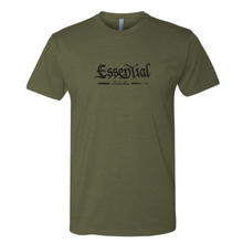 "Load image into Gallery viewer, NEW ""Essential Industries"" Support the 2A - Mens OD Green & Black T-Shirt"