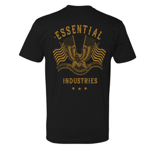 "NEW  ""Essential Industries"" Support the 2A - Mens Black T-Shirt"