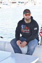 "Load image into Gallery viewer, NEW ""We The Essentials"" Support the Red, White, and Blue - Black Pullover Unisex Hoodie"