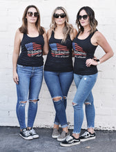 "Load image into Gallery viewer, NEW ""We The Essentials"" Support the Red, White, & Blue - Women's Racerback Tank"