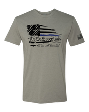 "Load image into Gallery viewer, ""We The Essentials"" Standard Issue Blue Line - Mens  Grey Short Sleeve T Shirt"