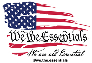 """We The Essentials"" Standard Issue Red, White & Blue - Sticker"