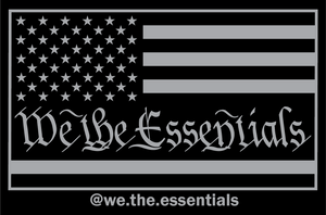"""We The Essentials"" Standard Issue Black and Grey - Sticker"