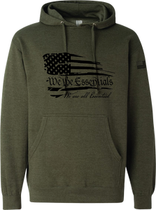 "NEW ""We The Essentials"" Standard Issue OD Green - Pullover Unisex Hoodie"