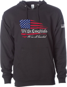"NEW ""We The Essentials"" Support the Red, White, and Blue - Black Pullover Unisex Hoodie"