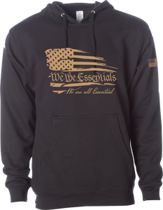 "NEW ""We The Essentials"" Black & Tan - Pullover Unisex Hoodie"