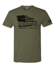 "Load image into Gallery viewer, ""We The Essentials"" Standard Issue - Mens OD Green T-Shirt"