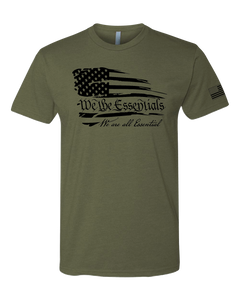 """We The Essentials"" Standard Issue - Mens OD Green T-Shirt"
