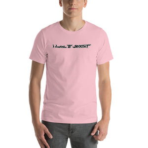 i Love To BOOST (long ways/black lettering) Short-Sleeve Unisex T-Shirt