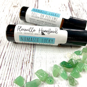 Namaste Lucky Perfume Oil | Genuine Green Aventurine