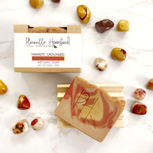 Load image into Gallery viewer, Namaste Grounded Crystal Soap | Genuine Mookaite