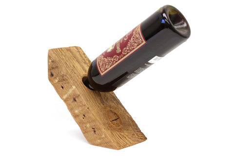 A wine angle handmade from 100% reclaimed West Coast Douglas fir in our Los Angeles workshop. Holds one bottle.