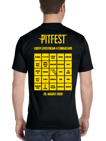 "Pitfest T-Shirt ""Lousy Livestream 2"" (black)"