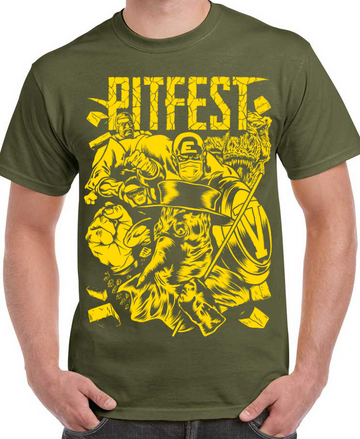 "Pitfest T-Shirt ""Lousy Livestream 2"" (military green)"