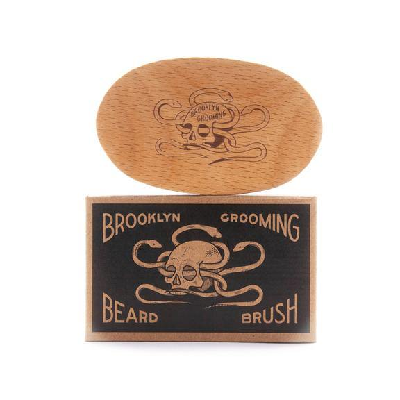 BEECHWOOD AND BOAR BRISTLE BEARD BRUSH - Brik + Clik