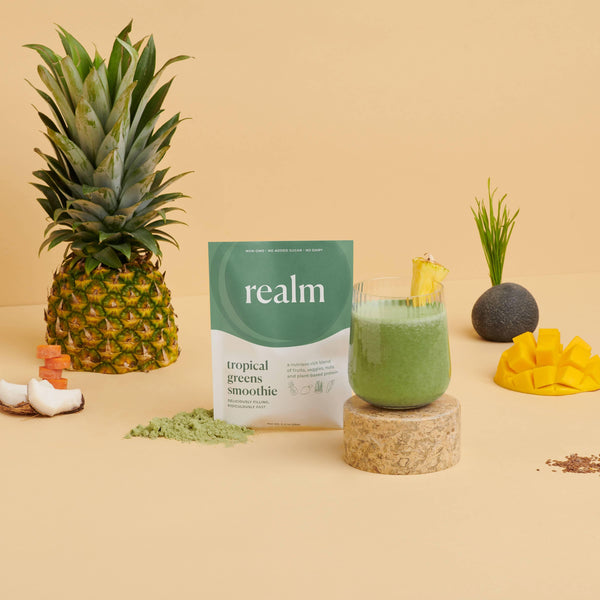 Realm Tropical Greens Smoothie - Brik + Clik