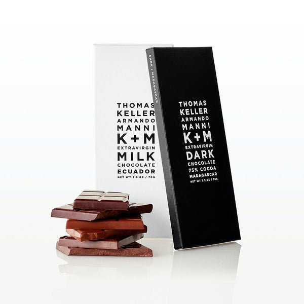 K+M Extravirgin Chocolate - Extravirgin Milk Ecuador Bar - Brik + Clik