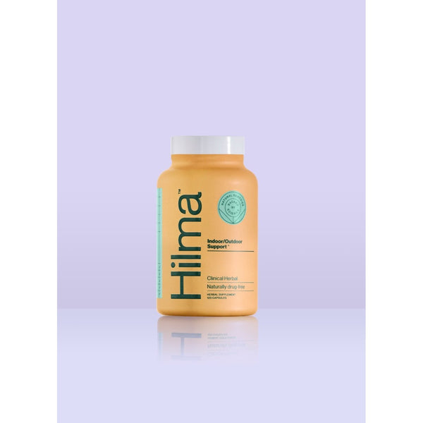 bottle of hilma indoor outdoor support herbal supplement