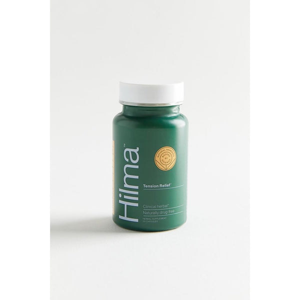 bottle of hilma tension relief herbal supplement