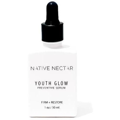 bottle of native nectar botanicals youth glow preventive serum