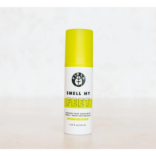 bottle of field smell my feet botanical foot spray front